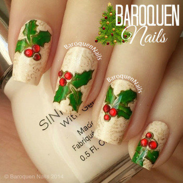 Holly nail art by BaroquenNails