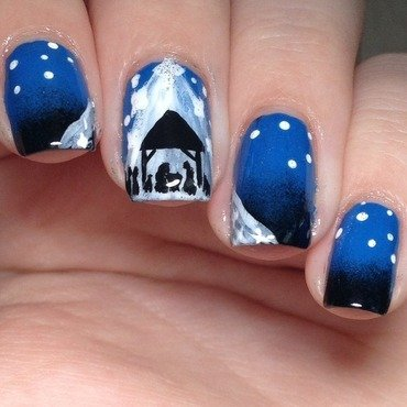 Nativity Scene nail art by 25_sweetpea