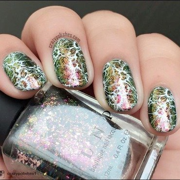 Colorshifting Flowers nail art by CrazyPolishes (Dimpal)