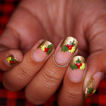 Mistletoe nail art and swatches nailpolis museum of nail art mistletoe french tips nail art by stacey castanha prinsesfo Image collections