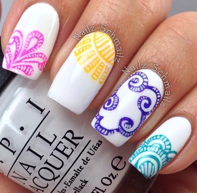 Spring Time Mani nail art by Eterna Santos