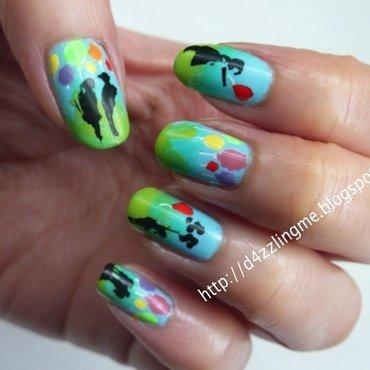 Balloons Nails  nail art by D4zzling Me