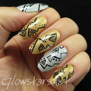 Triangles dots silver gold holo 1 thumb370f