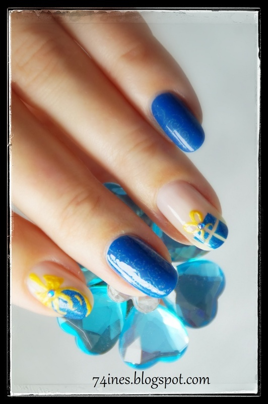 Christmas nail art by 74ines