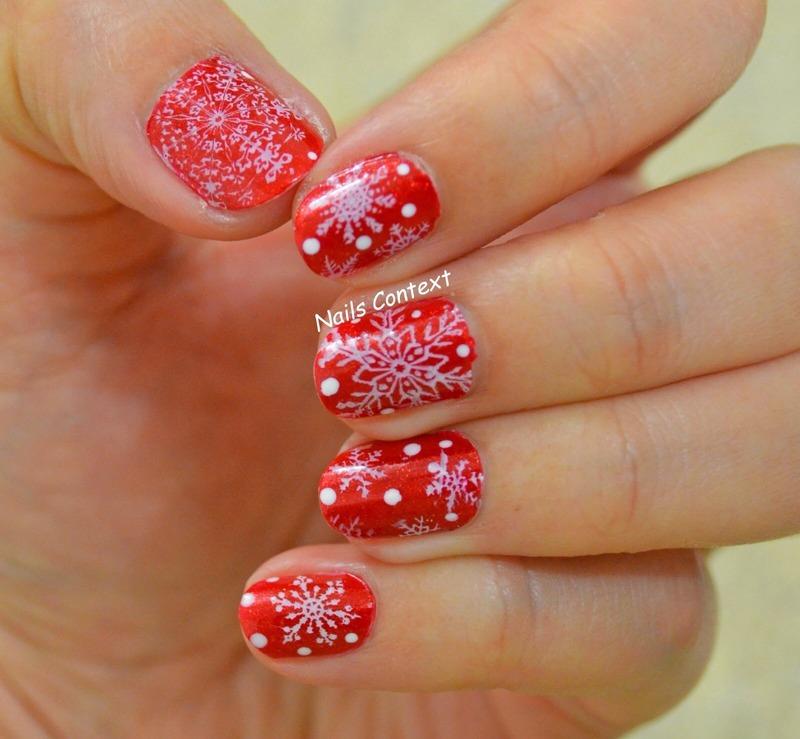 Snowflake Stamping nail art by NailsContext