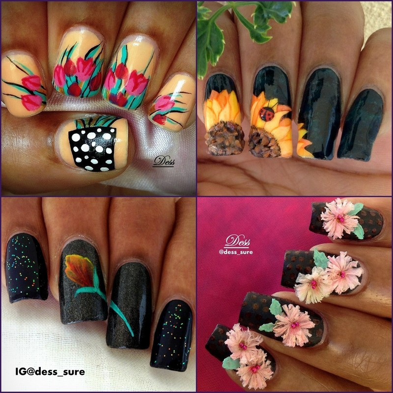 In bloom nail art by Dess_sure