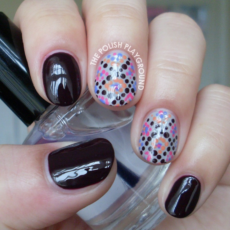 Diamond Pattern Dots nail art by Lisa N