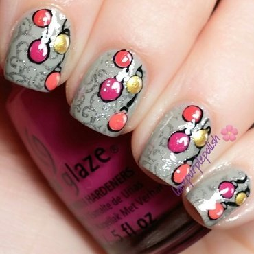 Christmas Ornaments nail art by lovepurplepolish