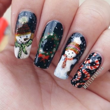 Christmas nail art by melisa viriya