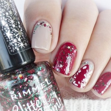 Christmas nails nail art by Romana