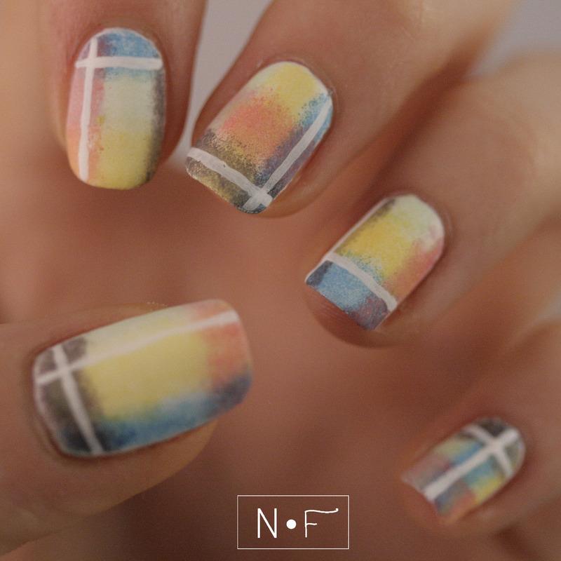 Blanket nails nail art by NerdyFleurty