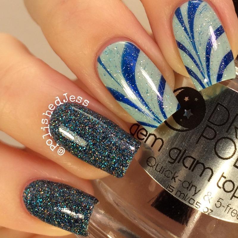 Icicle Inspired  nail art by PolishedJess