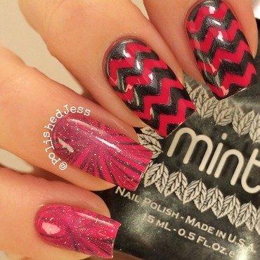 Marble Chevrons  nail art by PolishedJess