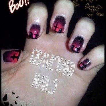 graveyard nails nail art by Ciara Donoghue