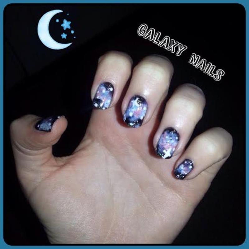 galaxy nails nail art by Ciara Donoghue
