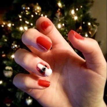 santa suit nail art by Ciara Donoghue