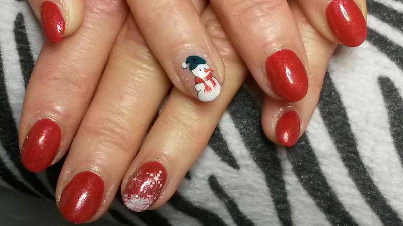 nice winter nail art by Rossella Landi