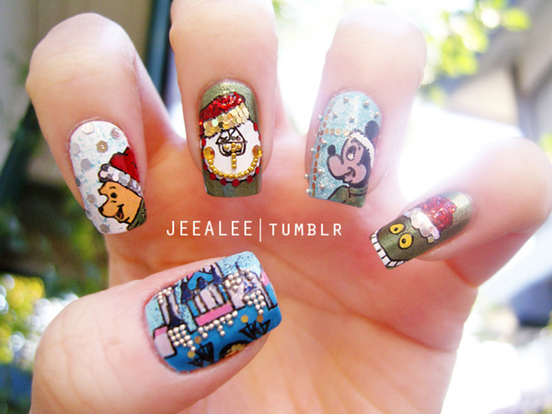 Disney Christmas Nails nail art by JeeA Lee - Nailpolis: Museum of ...