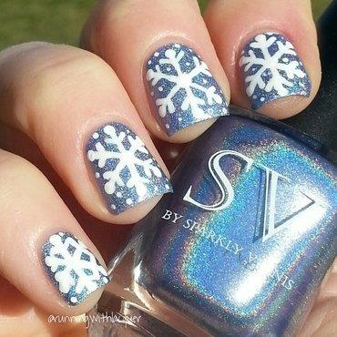 Sparkly Vernis Snowflake nail art by Debbie D