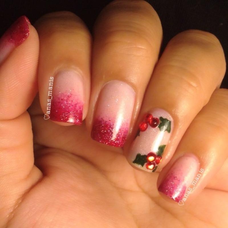 Holly nails nail art by anas_manis