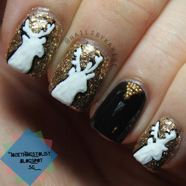 Nailartchallengedec reindeer nail art thumb370f