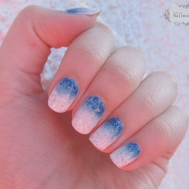Frozen  nail art by Lora