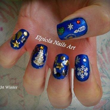 Winter Wonderland nail art by Elpiola Lluka