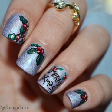 We Wish You a Merry Christmas  nail art by And'gel ongulaire