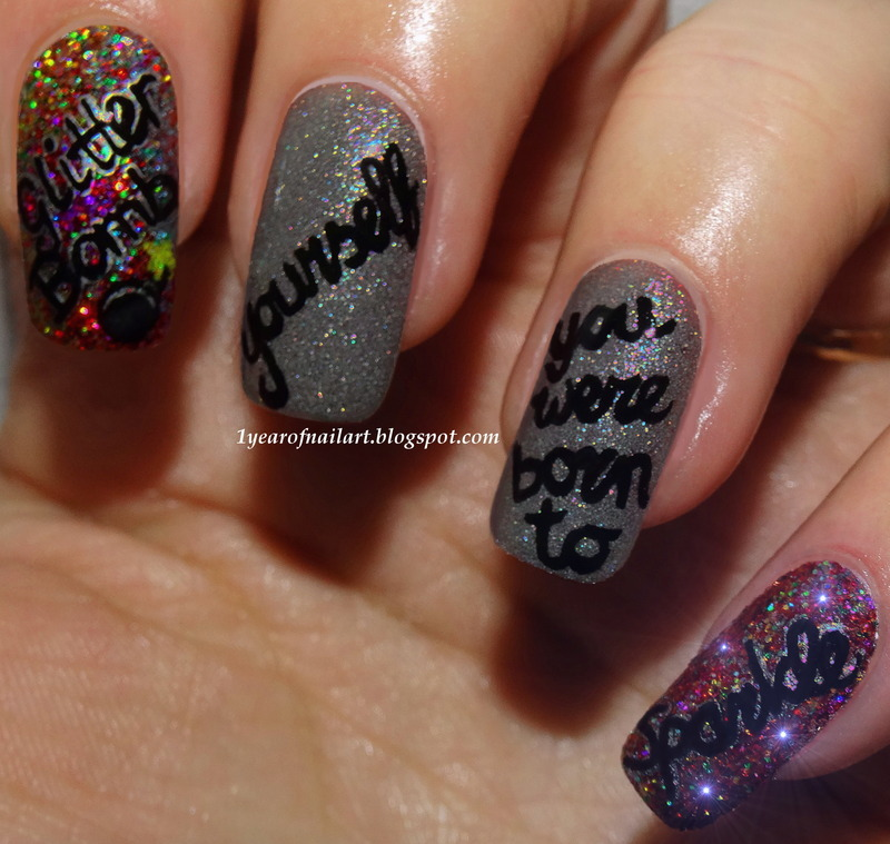 Glitter bomb yourself, you were born to SPARKLE! nail art by Margriet Sijperda
