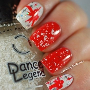 christmas nail art  nail art by Dorothy NailAssay