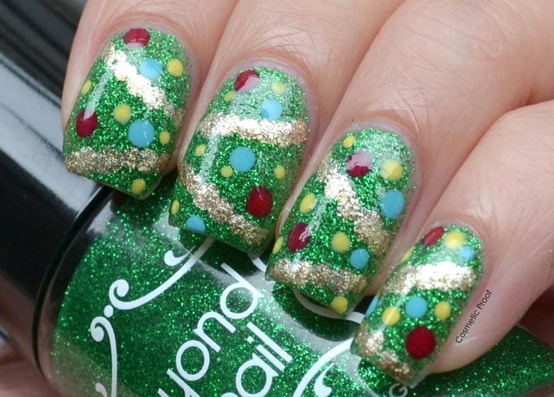 'O Christmas Tree nail art by Jayne