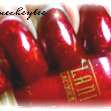 Milani ruby jewels Swatch by peecheytee