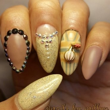 Nude with a Tude. nail art by Milly Palma