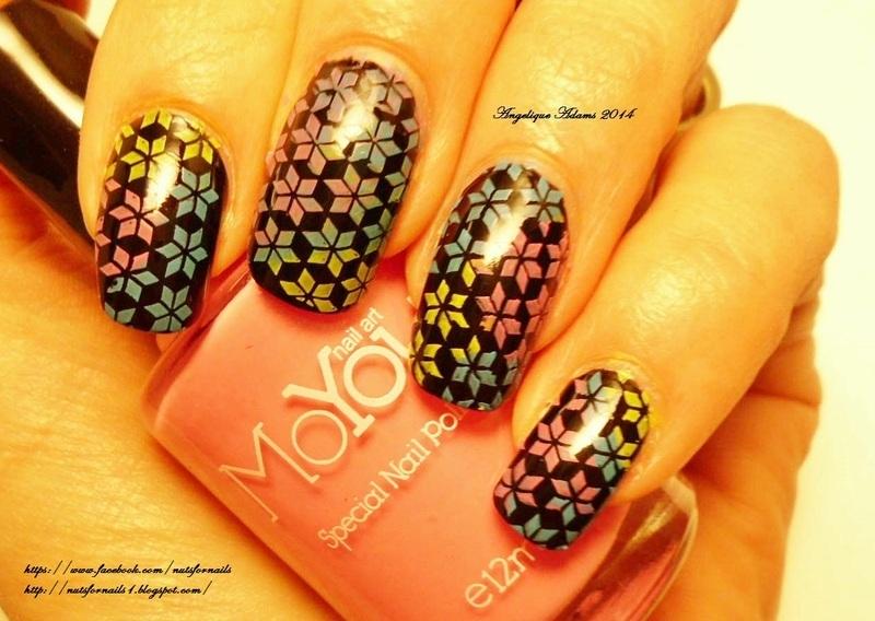 Color Wheels nail art by Angelique Adams