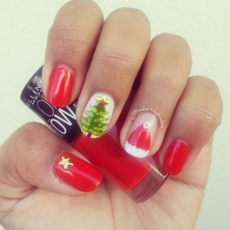 Christmas nail art! nail art by Shailee