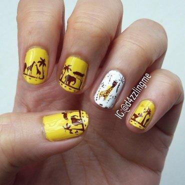 Safari Nails  nail art by D4zzling Me