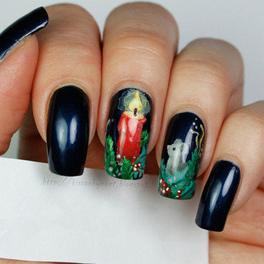 Christmas candle nails np 3 thumb370f