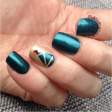 Christmas tree nails nail art by manimaninails