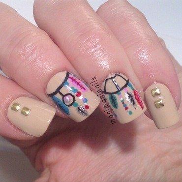 Dreamcatcher nails nail art by manimaninails