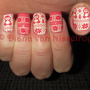 Sweater Weather nail art by Diana van Nisselroy