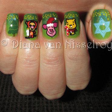 Happy Holidays (Hanukkah, Christmas...) nail art by Diana van Nisselroy