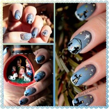 Christmas nail art by Elodie Mayer