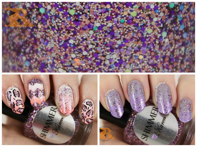 Nail Art With Shimmer Polish Karen nail art by Robin