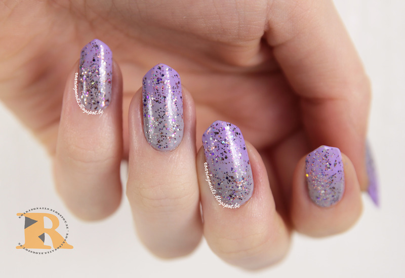 Soft Gradient with Shimmer Karen nail art by Robin