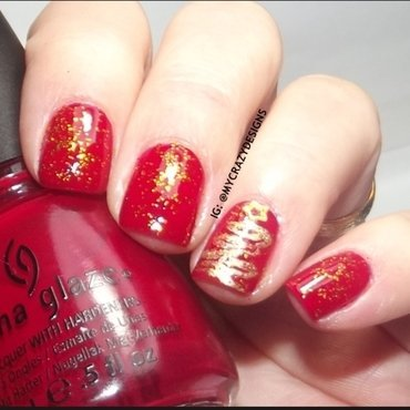 Christmas nails I nail art by Mycrazydesigns