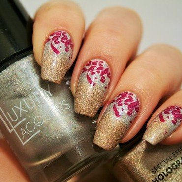 Holographic duo nail art by Jane