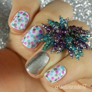 Jelly dots nail art by Cristina Alvarado