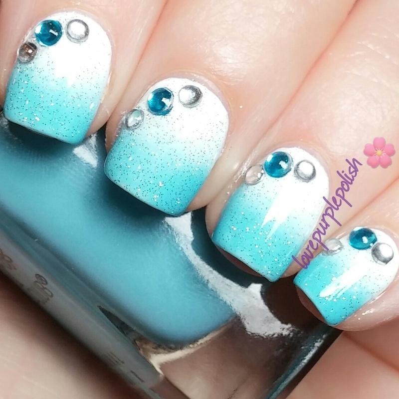 Frozen nails  nail art by lovepurplepolish