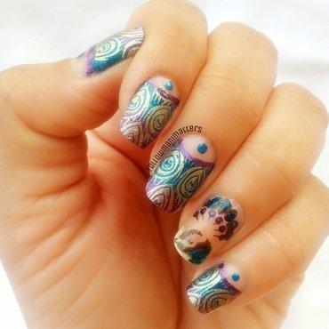 Peacock nail art nail art by Manisha Manimatters