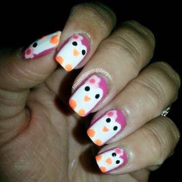 Penguin nail art nail art by Manisha Manimatters